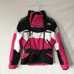 Pink Northface Steep Tech jacket.